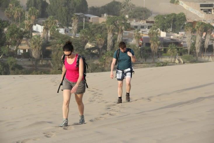 Grimpette sur les dunes