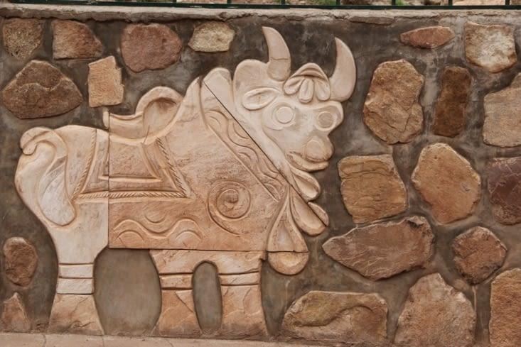 Les vaches du village de Pukara