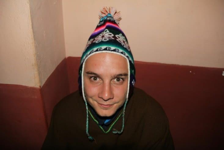 Alex et son bonnet péruvien