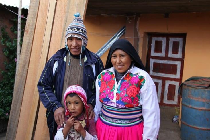 Gabin et ses parents (notre famille d'accueil)