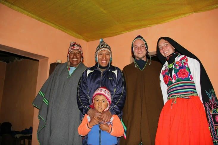 Les costumes prêtés par la famille
