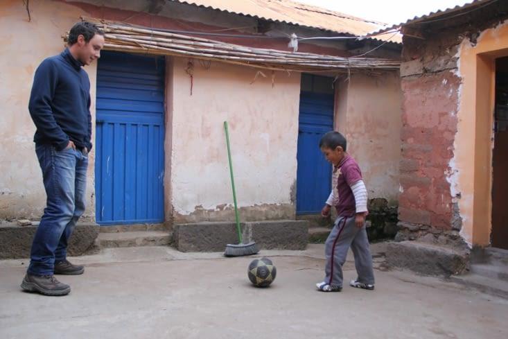 Un petit foot avec Gabin