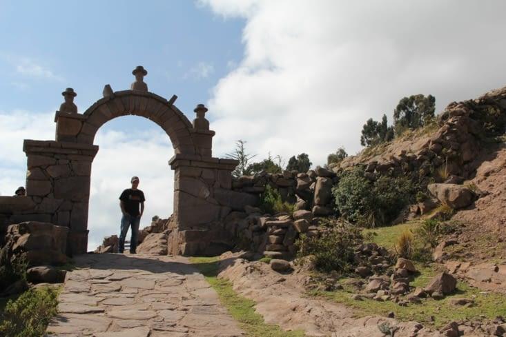 Une des arches de l'île