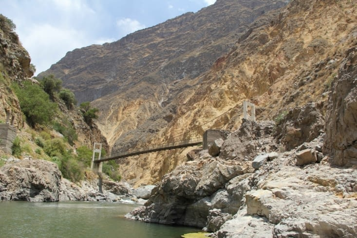 1ère traversée du Rio Colca
