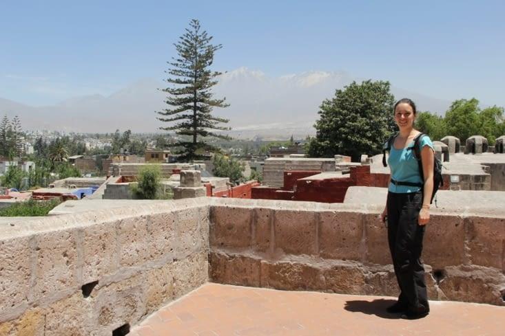 Vue sur Arequipa du mirador du monastère