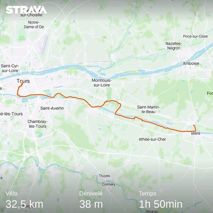 Bléré - Tours par la véloroute