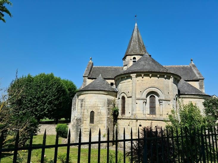 Église Saint-Quentin en sortie de La-Croix-en-Touraine