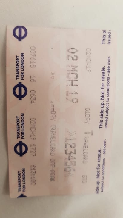 Ticket de metro a la journée