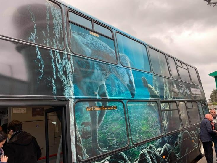 Bus qui fait la navette de la gare au studio