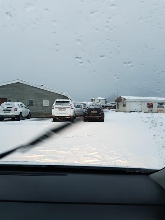 arrivée à Keflavik : le choc thermique !!