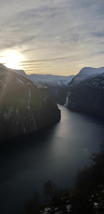 Vue du fjord depuis ørnesvingen