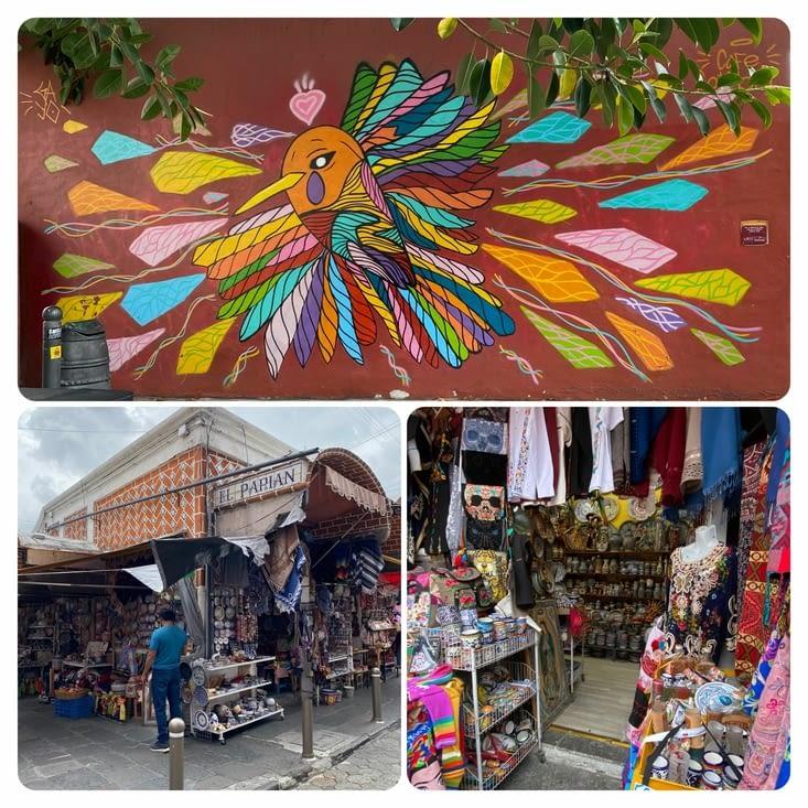 Street art et marché El Parian