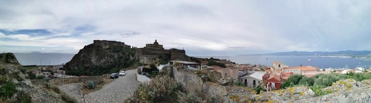 Vue panoramic château milazzo