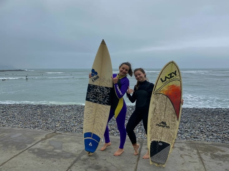 Dernière photo de notre session surf