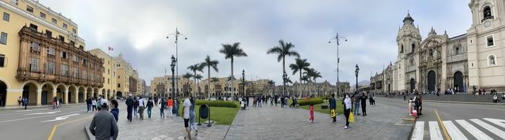 La plaza de Armas en panoramique
