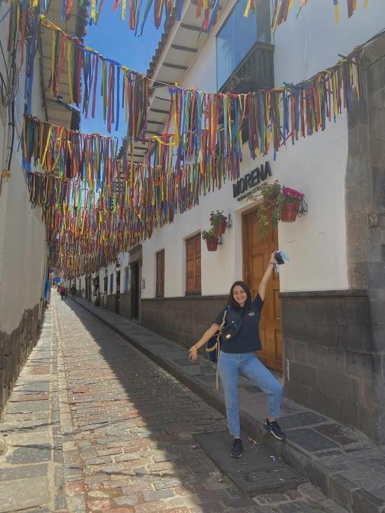 Beaucoup de belles petites ruelles autour de la plaza de armas