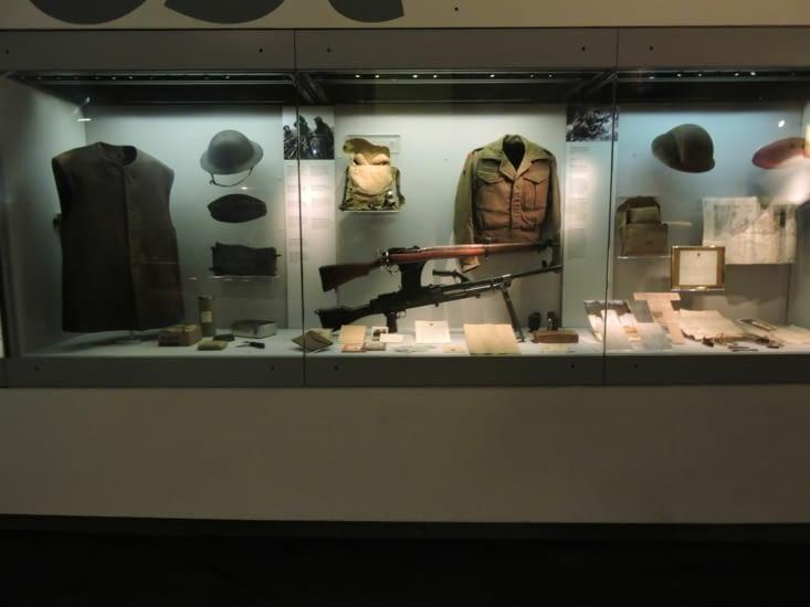 le musée évoque les guerres mondiales