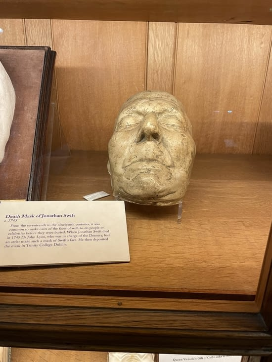 Masque mortuaire de Swift