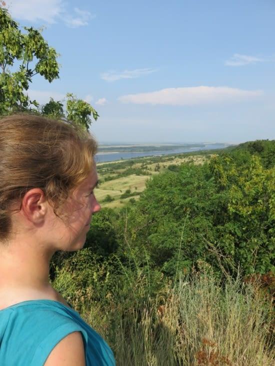 Le Danube, vue du sommet d'une des nombreuses montées de l'eurovelo