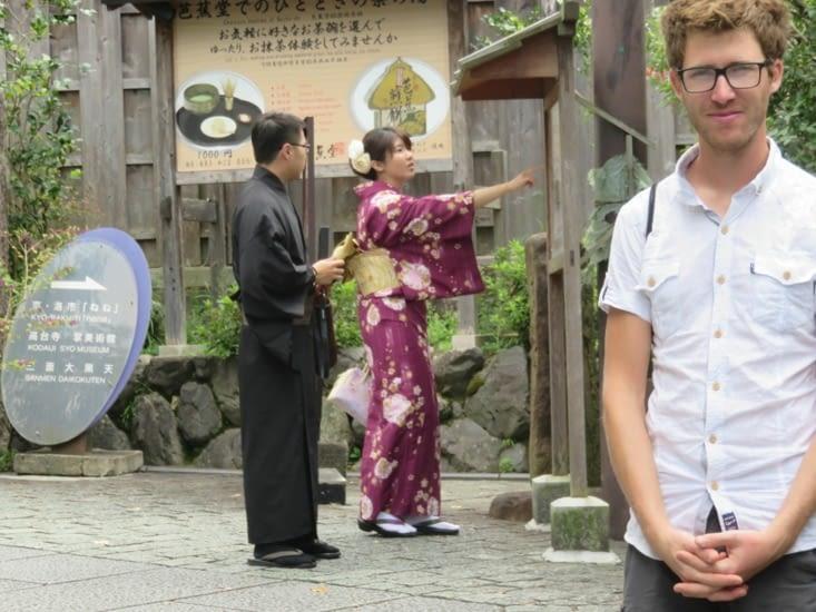 Dans Kyoto, les gens aiment louer un yukata pour la journée.