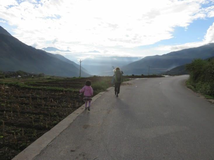 Les kilomètres défilent doucement: on s'ennuie jamais.