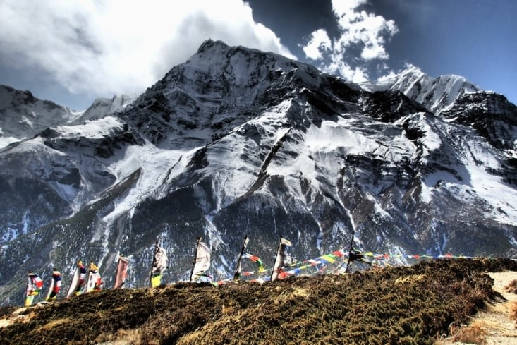 Photo prise aussi par Yahn, avec effet. Annapurna 2, 7937m.