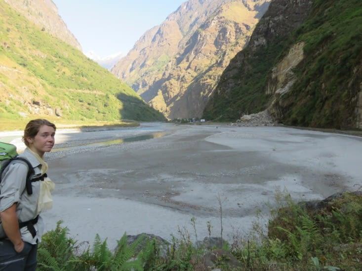 Quelques kilomètres carrés de lit de rivières.
