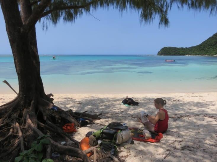 C'etait une sacrée plage, et le snorkelling top.
