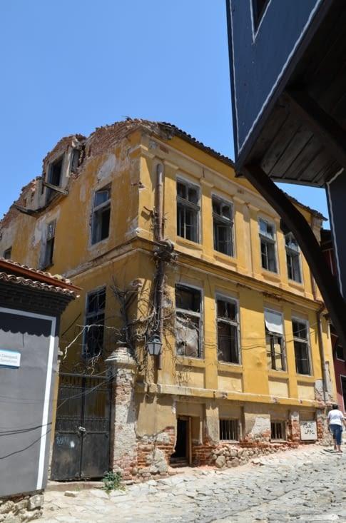 Maison à l'abandon dans la vieille ville de Plovdiv