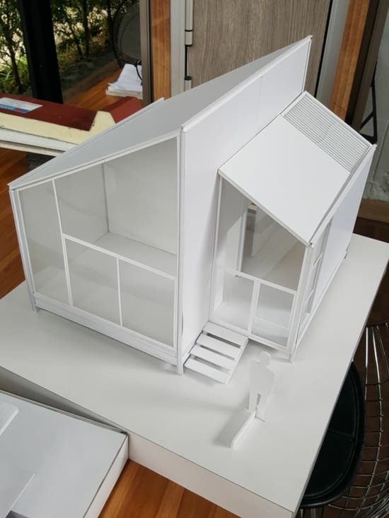 Maquettes d'une maison que j'ai dimensionné