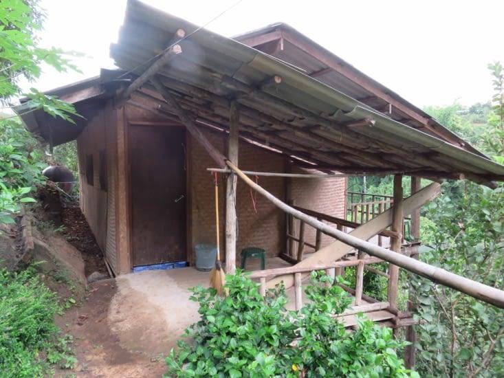 Cabane en bamboo