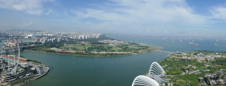 panorama sur la baie de Singapour