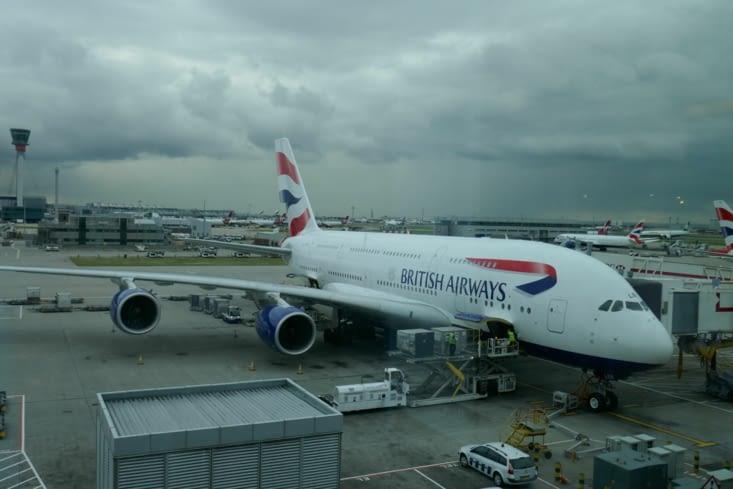 le cerise sur le gateau : un A380 pour le Londres - Singapour