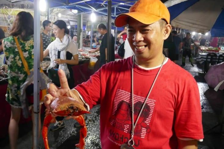 Le King crabe rouge des Philippines, si fin à manger