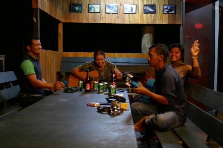 Les locaux adorent la musique