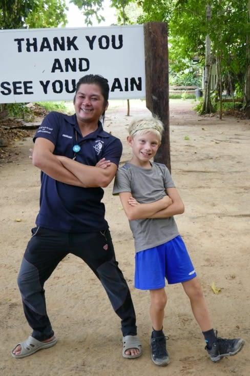 Maël et notre guide