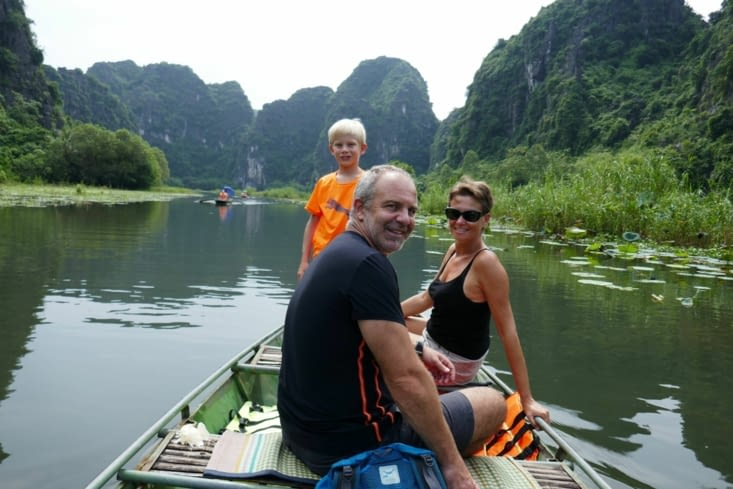 Balade sur la rivière à Ninh Binh