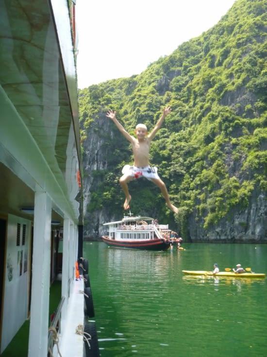 Enfin, on saute dans l'eau !!!
