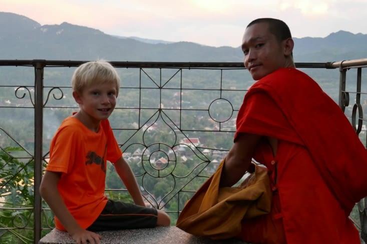 et une belle rencontre avec un jeune moine