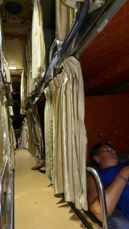 et notre bus couchettes pour rejoindre Phnom Penh