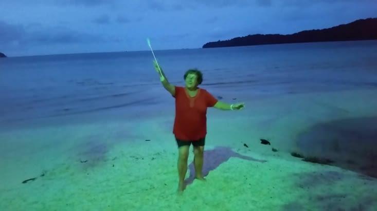 Soudain la fée MAJORETTE apparaît et nous conduit sur une partie habitée de l'île