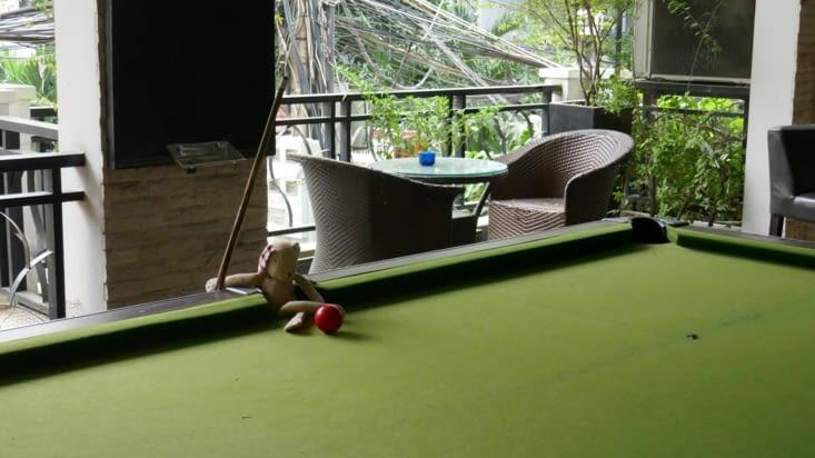 doudou joue au billard