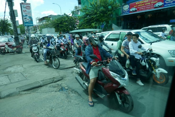 les rues de Pnom Penh