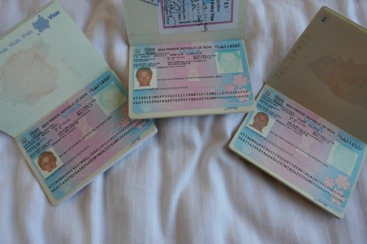 Voilà les visas : ils sont jolis en bleu et rose