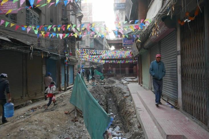 Beaucoup de travaux dans les rues pour reconstruire ou réparer les réseaux