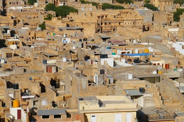 Le village qui s'est développé autour de la citadelle