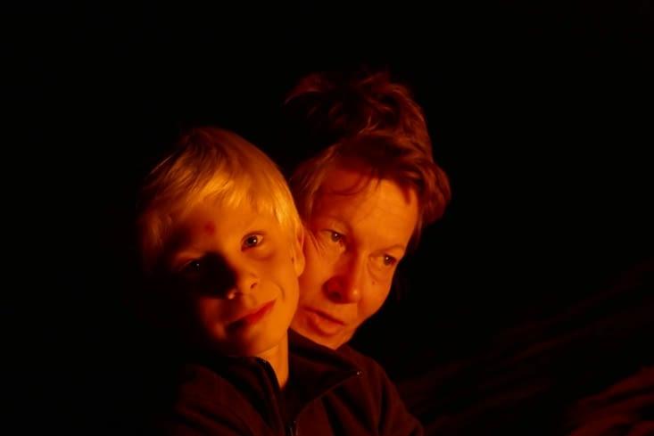 Portrait désertique:  un feu de famille