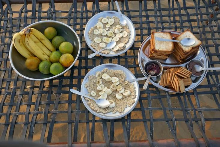 Et voici un super petit déjeuner du désert !