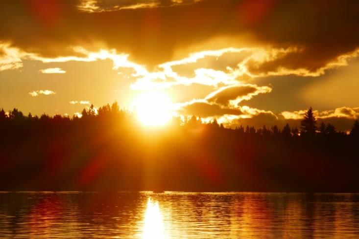 Coucher de soleil pour les myopes