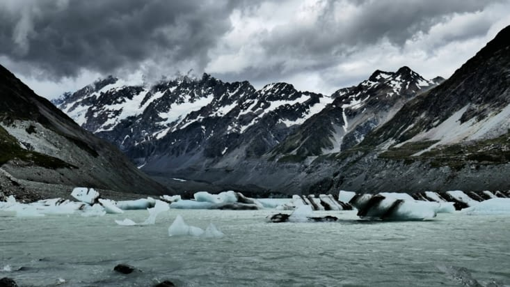 Plein plein de petits icebergs